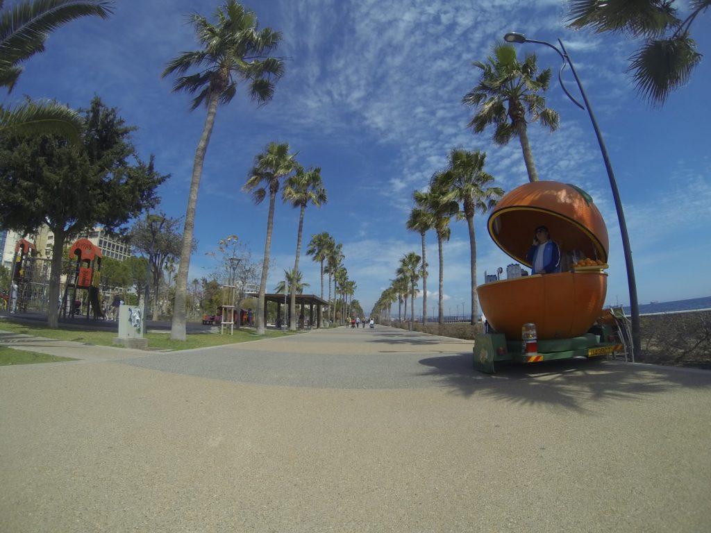 Strandpromenade Laufstrecke Limassol Zypern