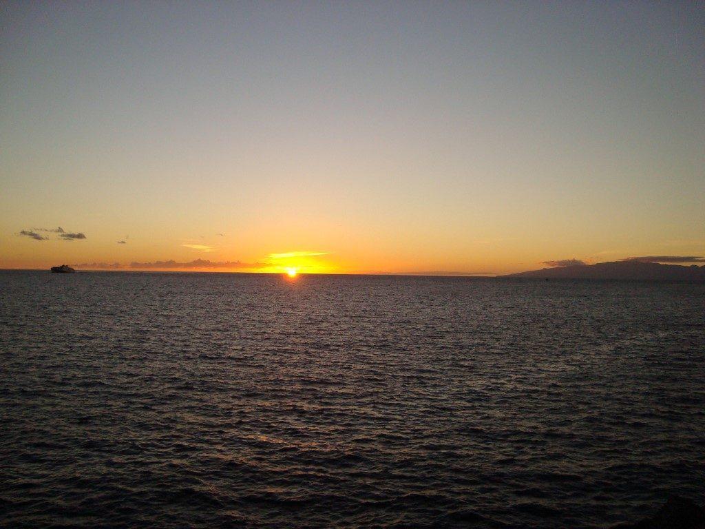 Sonnenuntergang Meer La Caleta Teneriffa