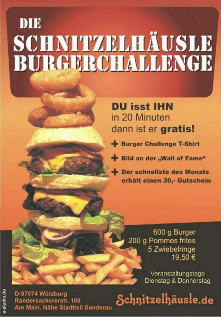 Burger Challenge Wettessen Esswettbewerb Schnitzelhäusle