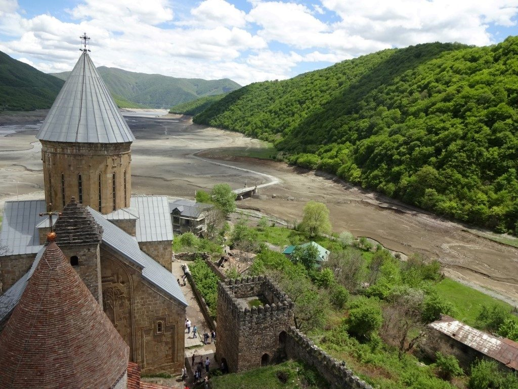 Ananuri Fortress Festung Zhinvali Reservoir Georgien
