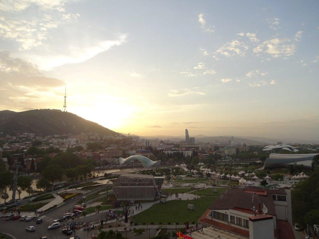 Tiflis Tbilisi Georgien Sonnenuntergang