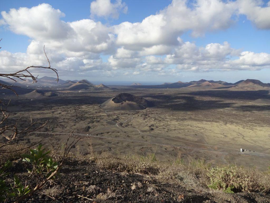 Montana Negra Volcan el Cuervo Aussicht Lanzarote