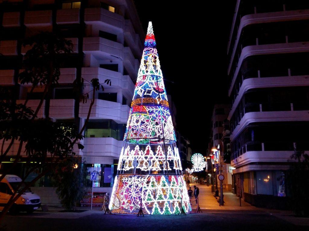 Weihnachten Weihnachtsbaum Arrecife Lanzarote