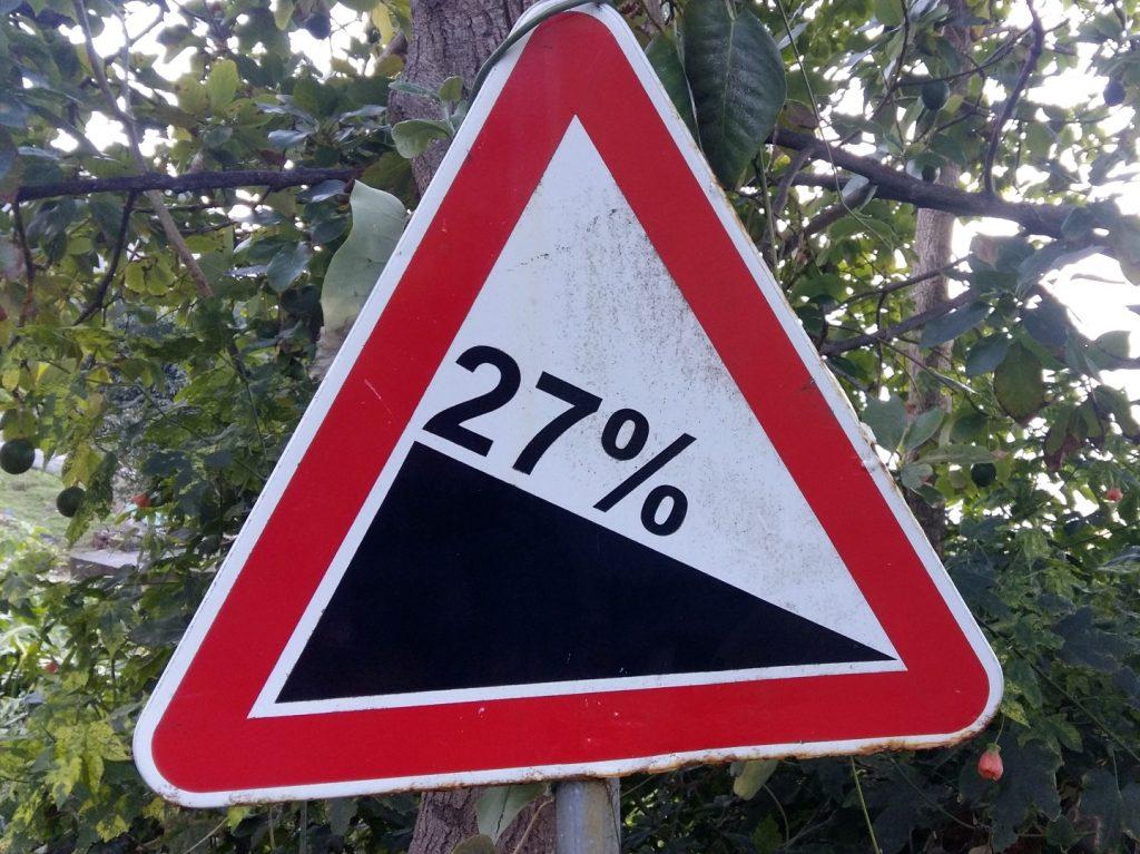 27 Prozent Steigung Berg Madeira