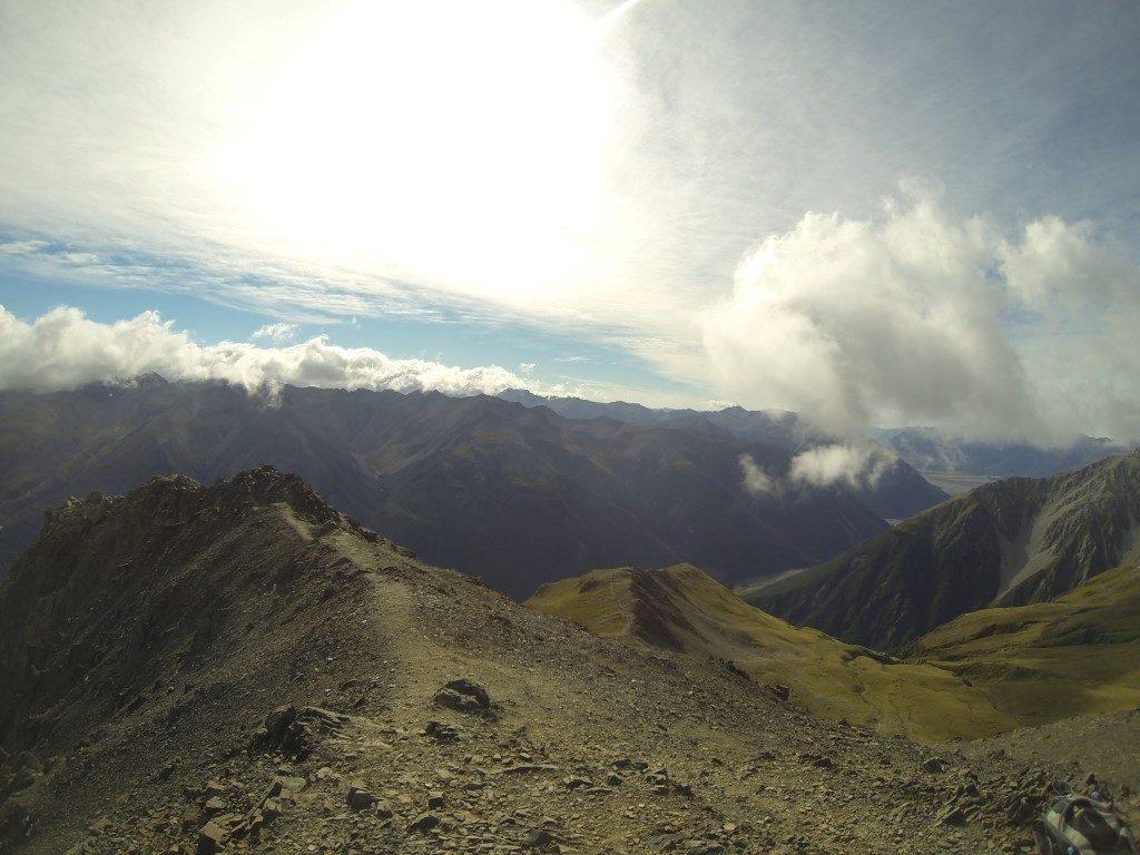 Avalanche Peak Aussicht Blick Arthurs Pass Südinsel Neuseeland