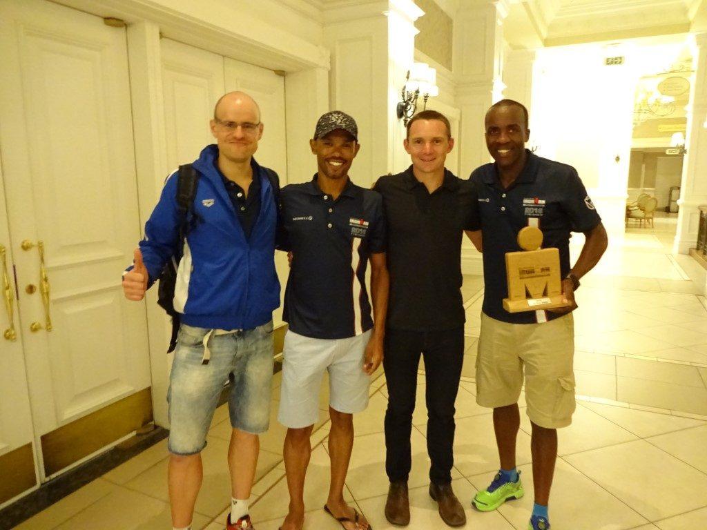 Ironman Südafrika 2016 Port Elizabeth Siegerehrung Ben Hoffman
