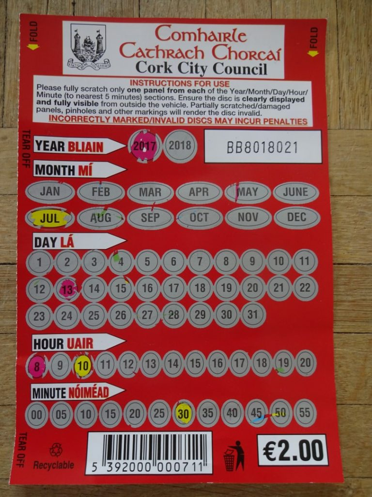 Parken Cork Rubbelkarte Irland