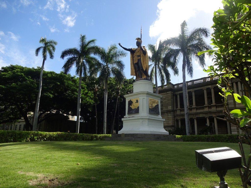 King Kamehameha Statue Downtown Honolulu Oahu Hawaii