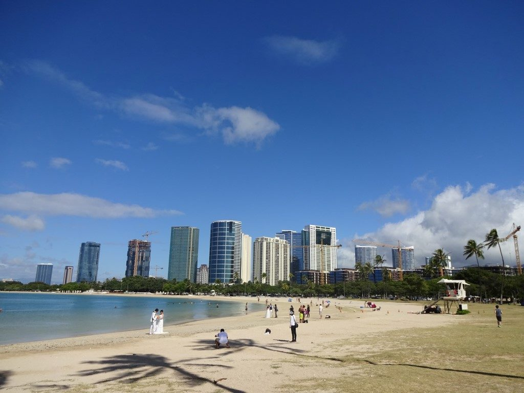 Magic Island Hochzeit Strand Honolulu Waikiki Oahu Hawaii