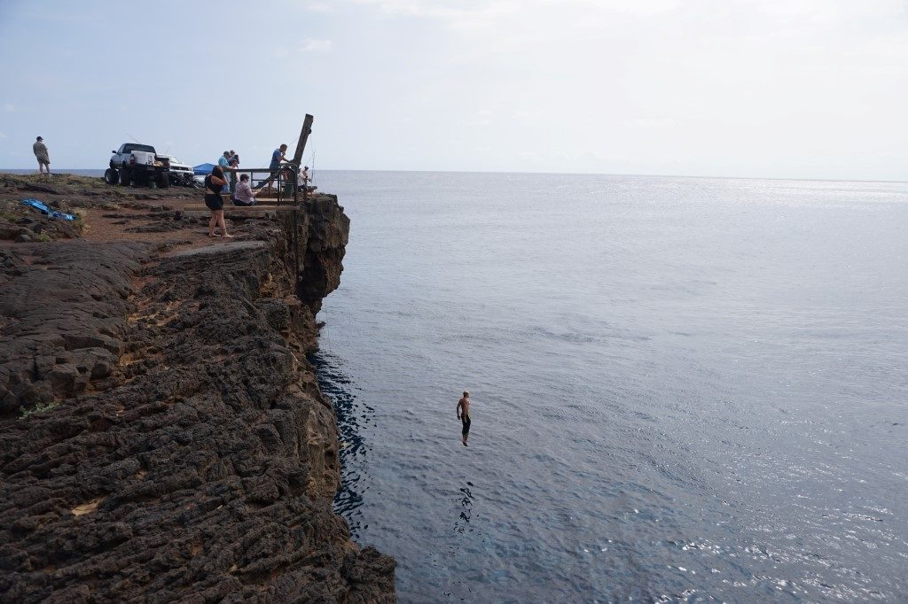 Sprung Cliff Dive South Point Big Island Hawaii