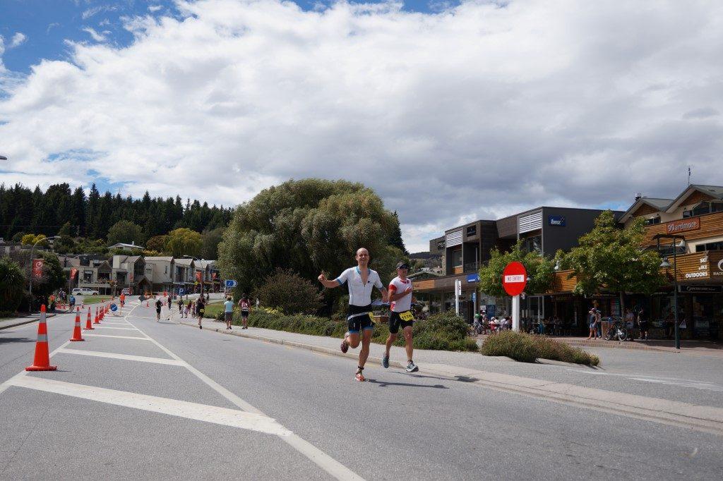 Challenge Wanaka Laufen Ziel Finish Zielgerade Südinsel Neuseeland