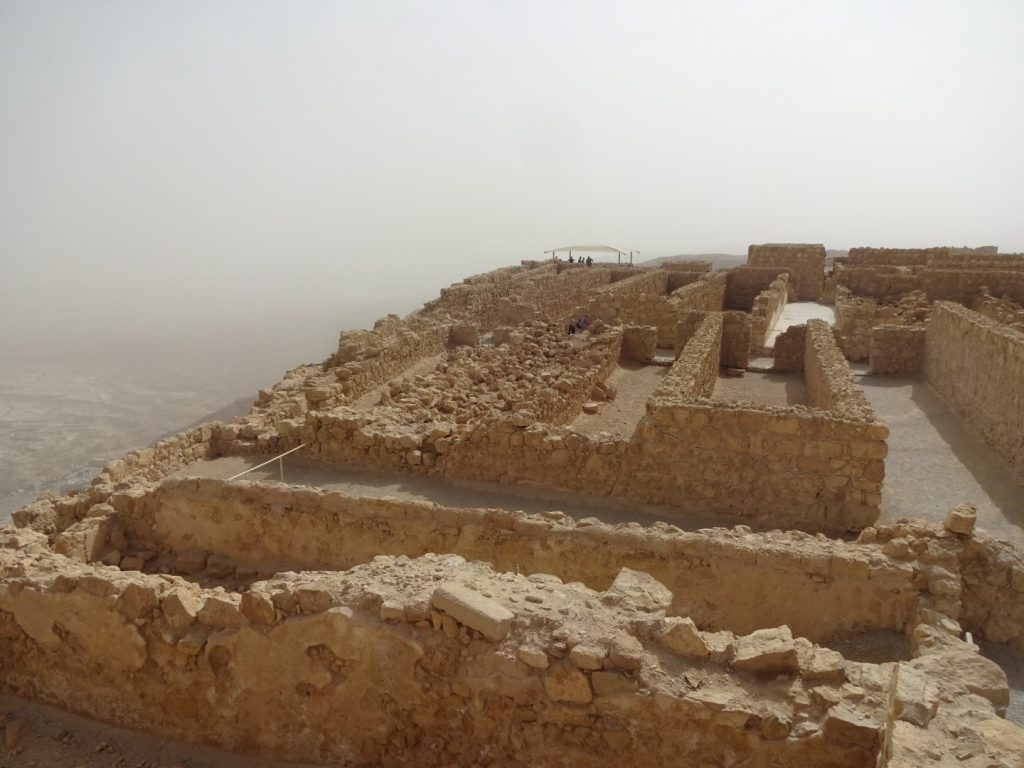 Ruine Festung Masada Totes Meer Israel