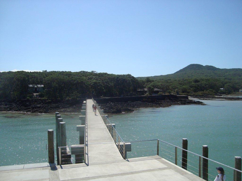 Rangitoto Island Anlegestelle Fähre Nordinsel Neuseeland