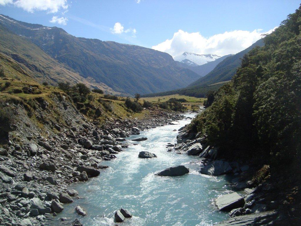 Rob Roy Gletscher Weg Südinsel Neuseeland
