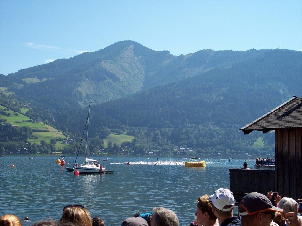 Schwimmstart Schwimmen Ironman 70.3 WM Zell am See Österreich