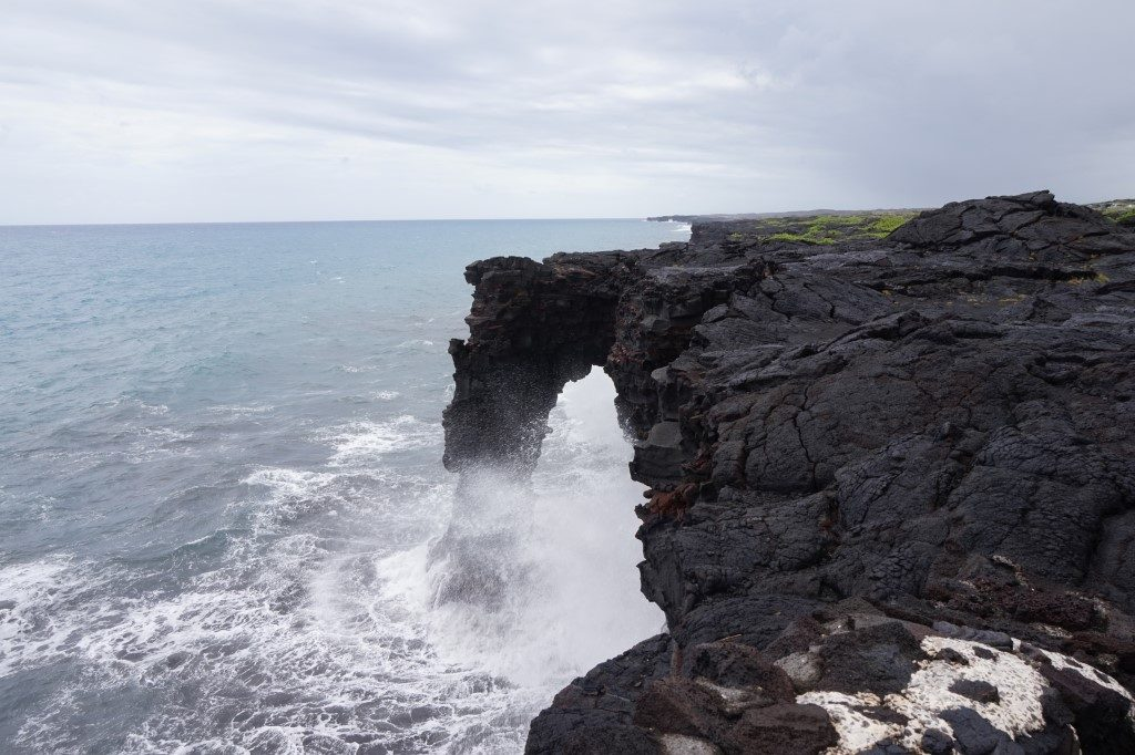 Sea Arch Volcano National Park Lava Big Island Hawaii