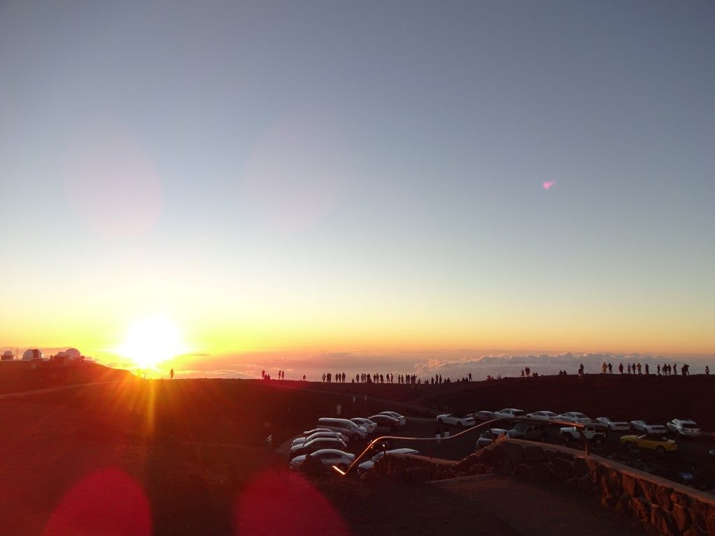 Haleakala National Park Sonnenuntergang Maui Hawaii