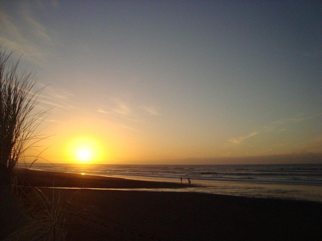 Hokitika Sonnenuntergang Südinsel Neuseeland