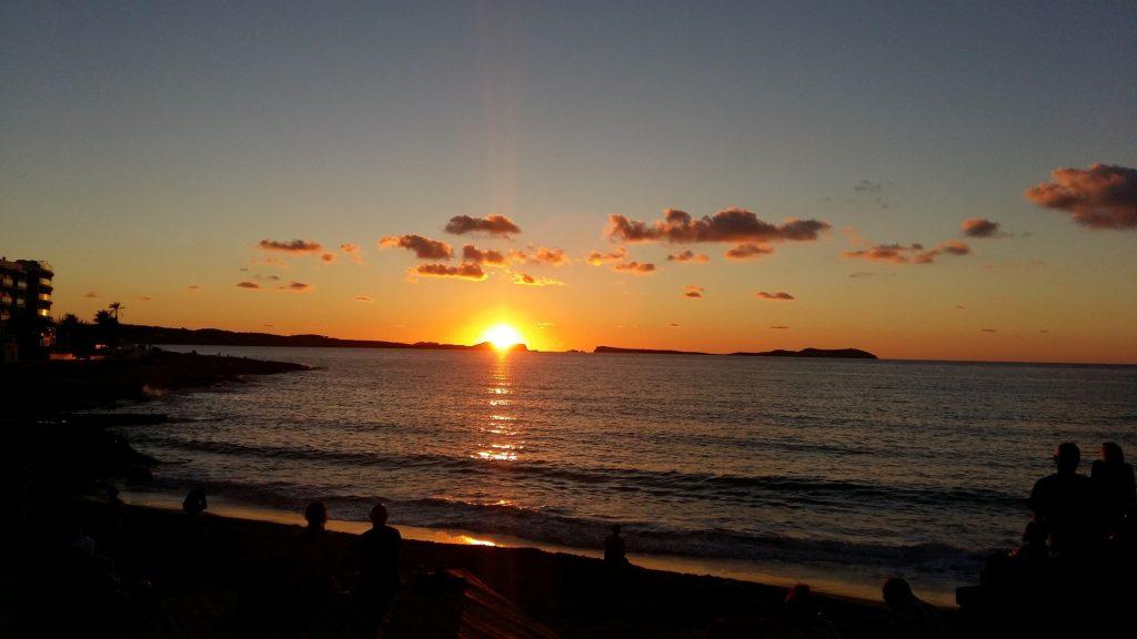 Calo el Moro Strand Sonnenuntergang Sant Antoni Ibiza