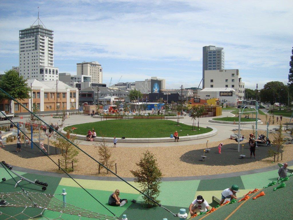 Christchurch Stadtzentrum Zentrum Spielplatz Südinsel Neuseeland