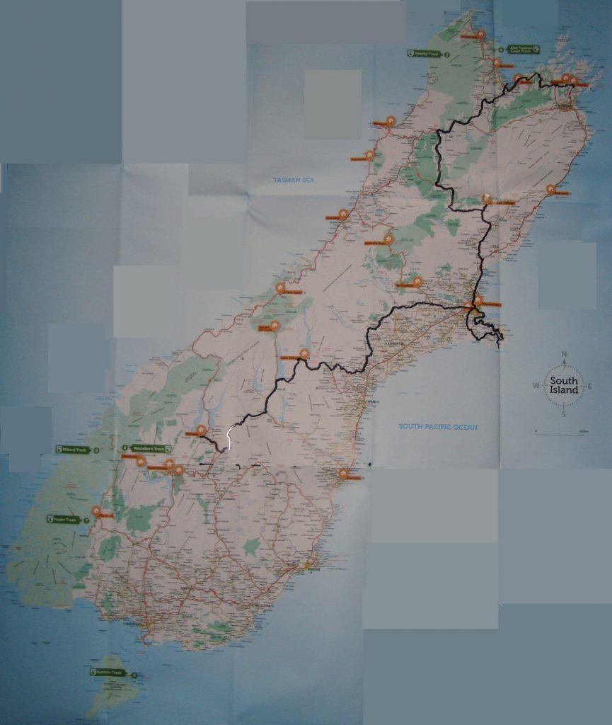Radtour Neuseeland Südinsel Amnesty International Bewegung Spende
