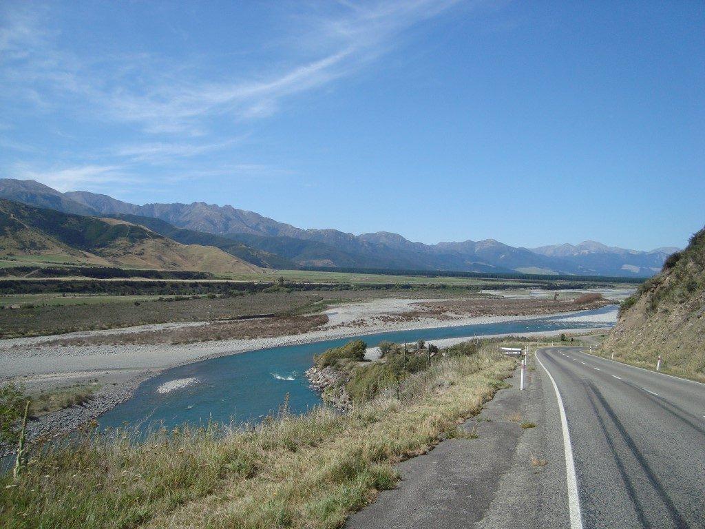 Waiau River Fluss Südinsel Neuseeland