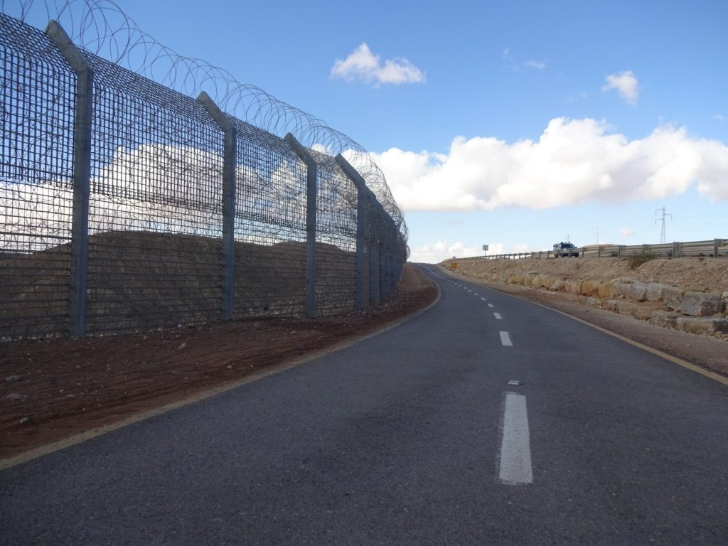Zaun Stacheldraht Grenze Ägypten Israel