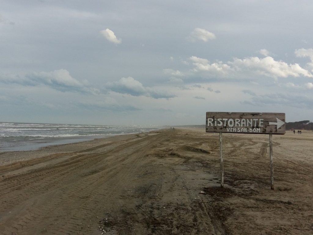 Strand Küste Adria Cervia Italien