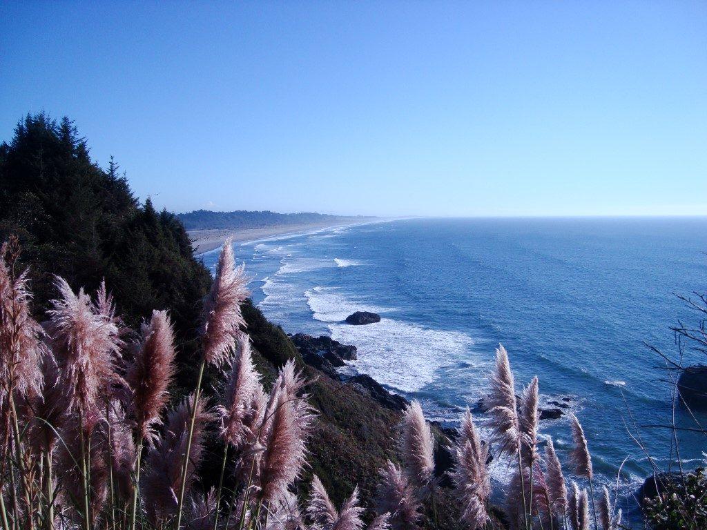 Aussicht Ausblick Hügel Pazifik Westküste USA