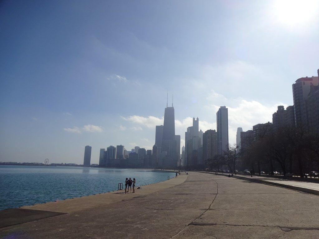 Chicago Hitzewelle Lake Michigan baden Februar Illinois