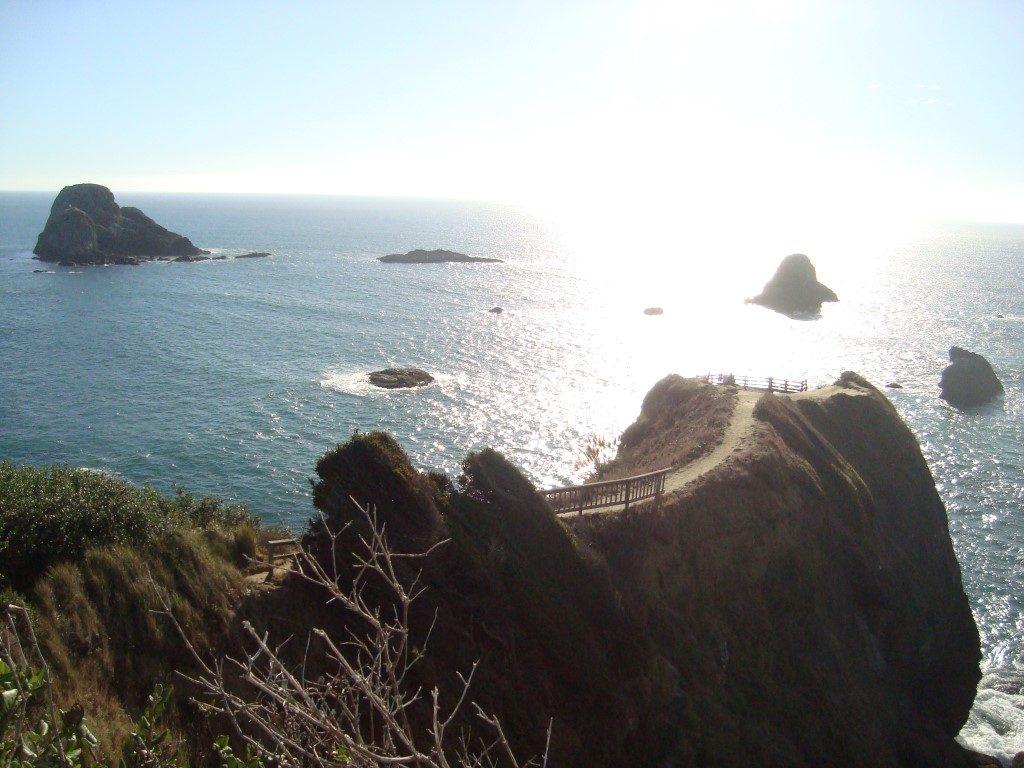 Highway 101 Felsen Meer Kulisse Aussichtspunkt Pazifik Kalifornien