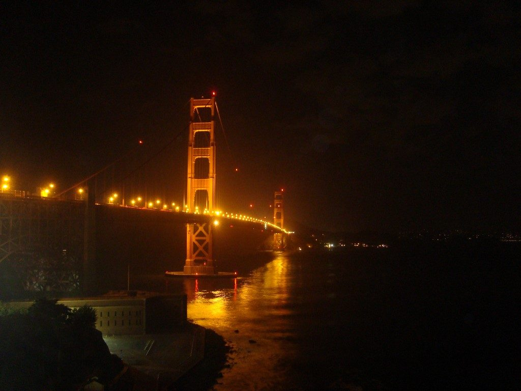 Golden Gate Bridge Brücke Nacht dunkel San Francisco Kalifornien