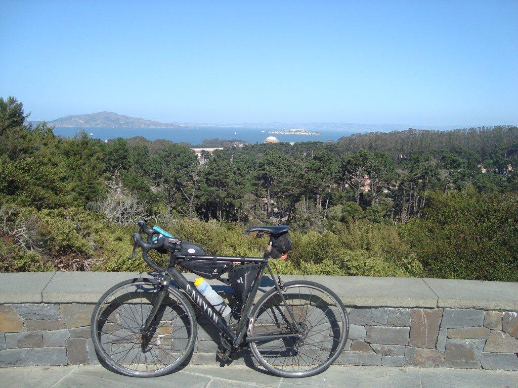 Radtour Golden Gate Park Blick Richtung Alcatraz San Francisco