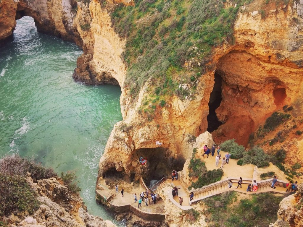 Ponta da Piedade Acantilados Steilküste Lagos Algarve Portugal