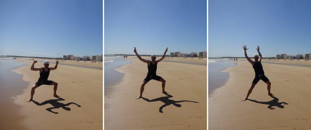 Strand Schatten Schattenspiel Monte Gordo Algarve Portugal