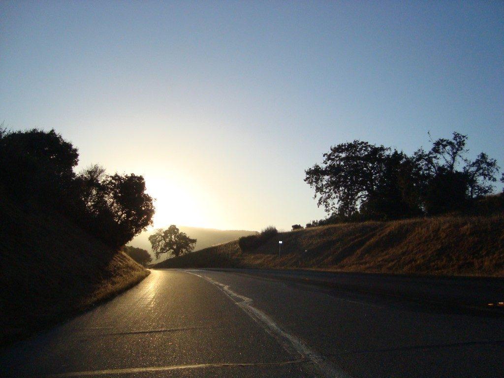 Menlo Park Kalifornien Abend Sonnenuntergang Straße