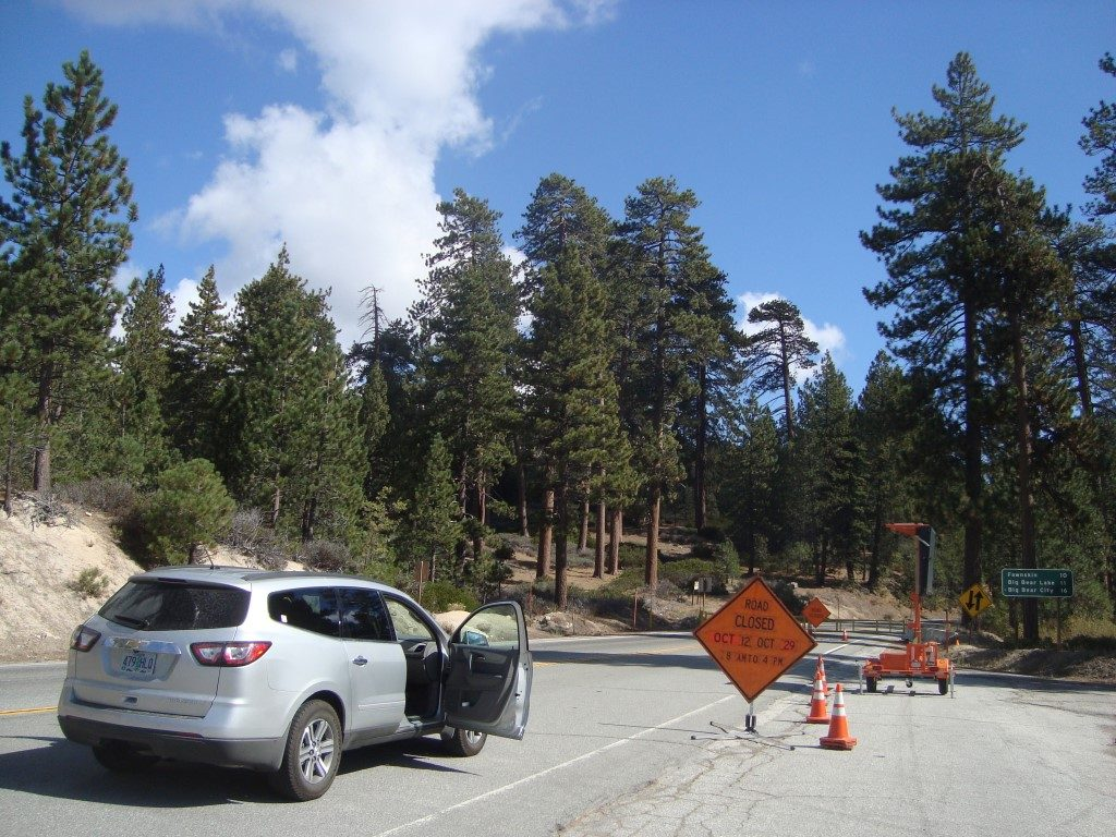 Sackgasse Road Closed Big Bear Lake Kalifornien