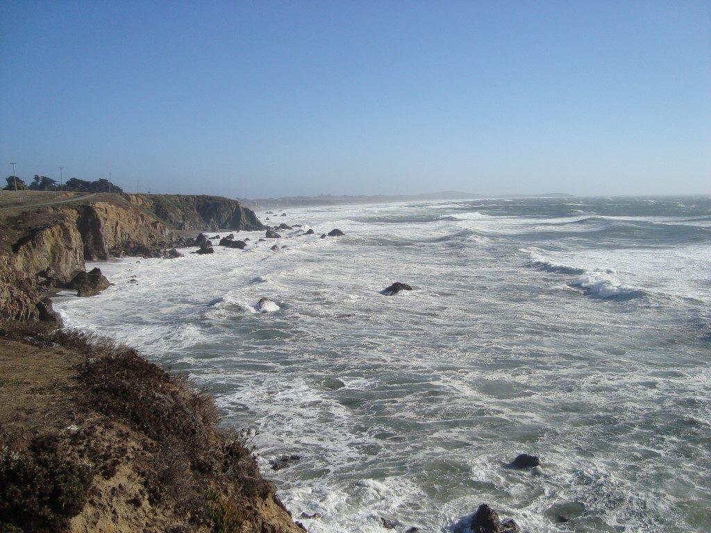 Highway 1 Sturm Wind Westküste Küste Kalifornien