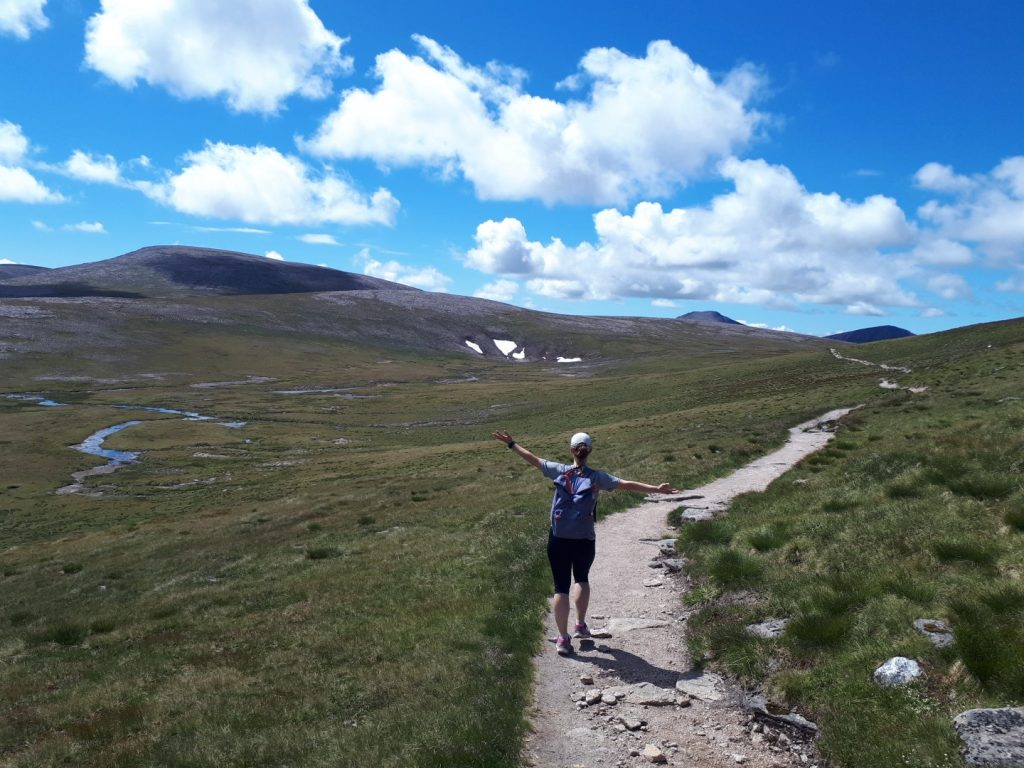 Trail Ben Macdui Cairngorms Nationalpark Highlands Schottland