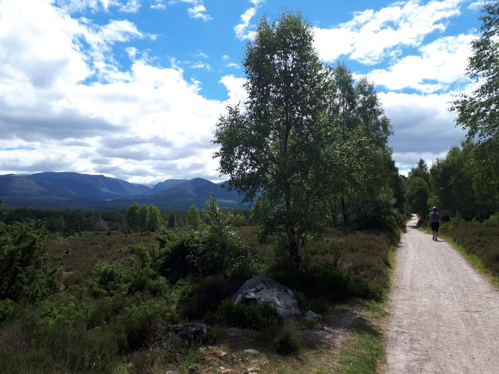Trail Loch Eanaich Cairngorms Nationalpark Highlands Schottland