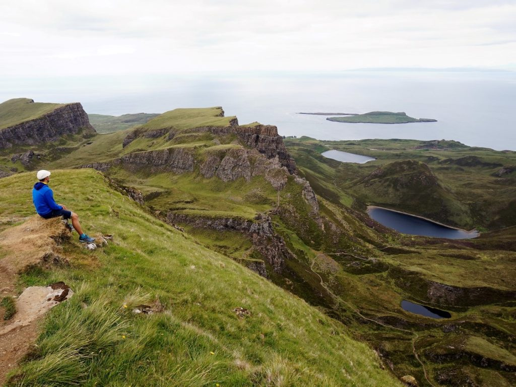 Quiraing Trail Isle of Skye Highlands Schottland