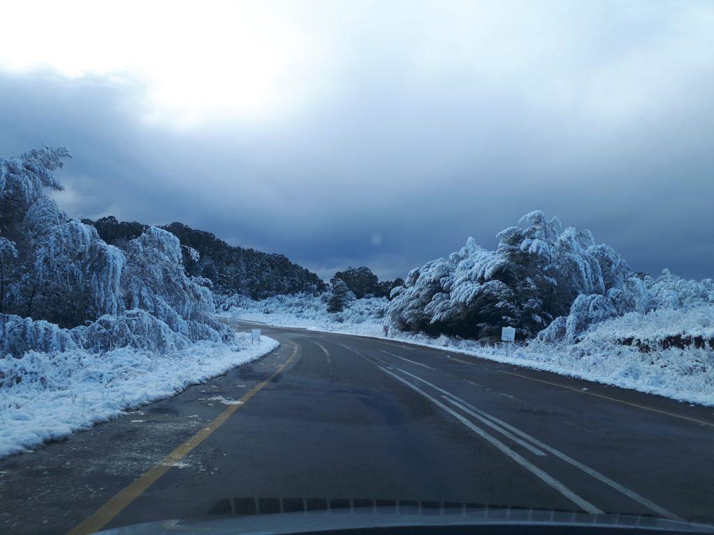 Schnee Underberg Südafrika