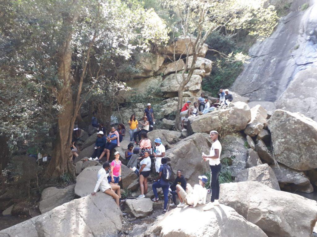 Madonna Child Wasserfall Hogsback Südafrika
