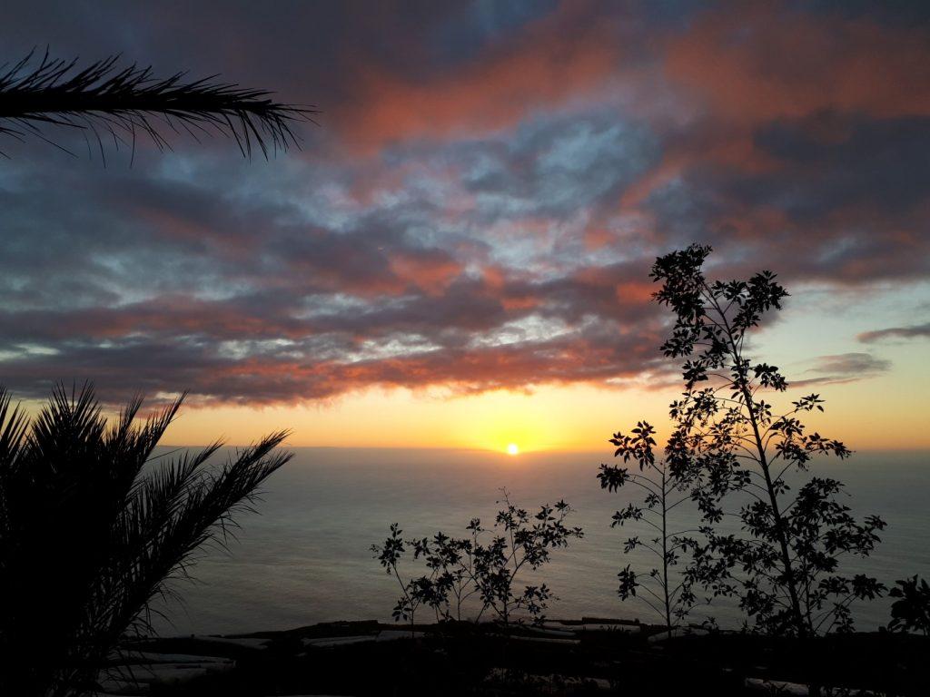Sonnenuntergang Mirador el Time La Palma Kanaren
