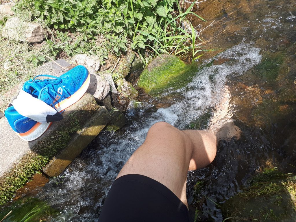 Back Fuß kühlen Run Across Germany Deutschlandlauf