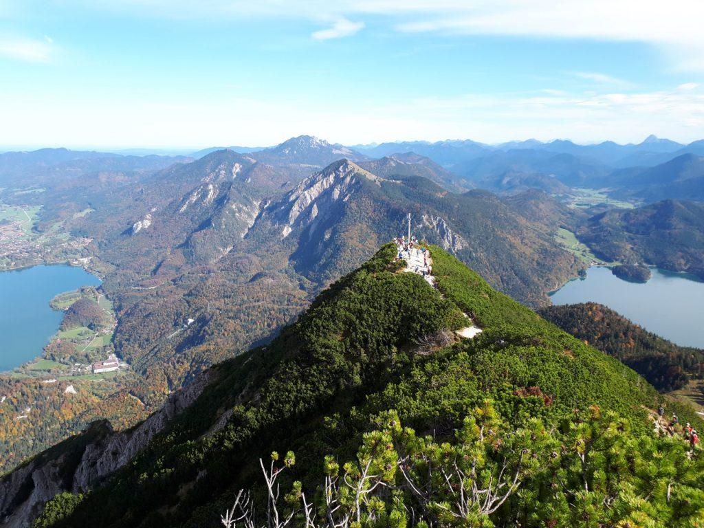 Blick Gipfel Herzogstand Voralpen
