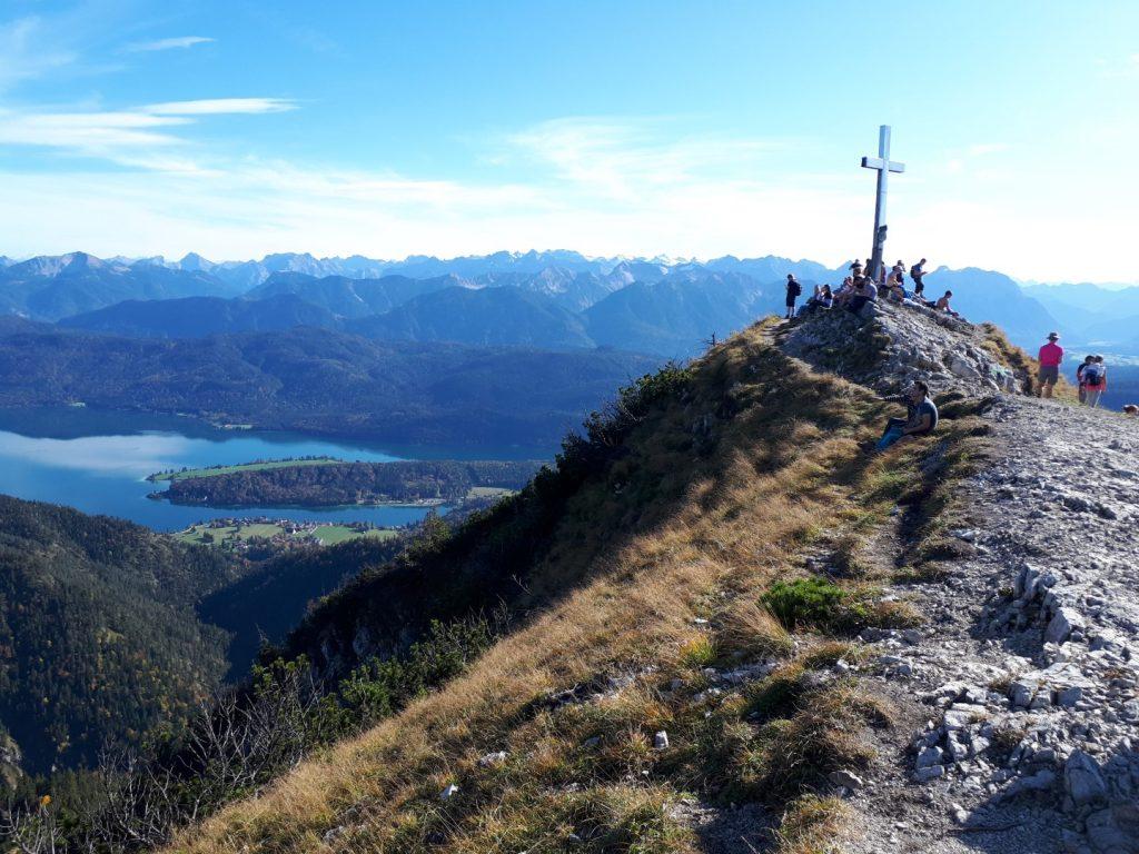 Blick Gipfel Heimgarten Voralpen