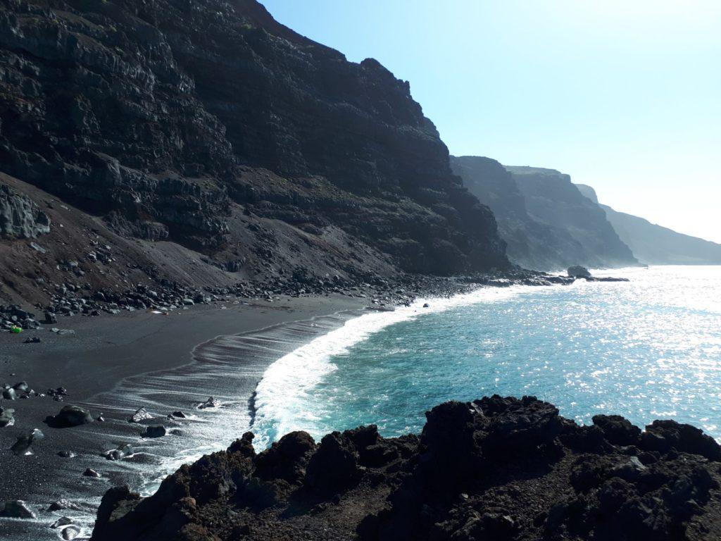 Playa Verodal schwarzer Strand El Hierro Kanaren