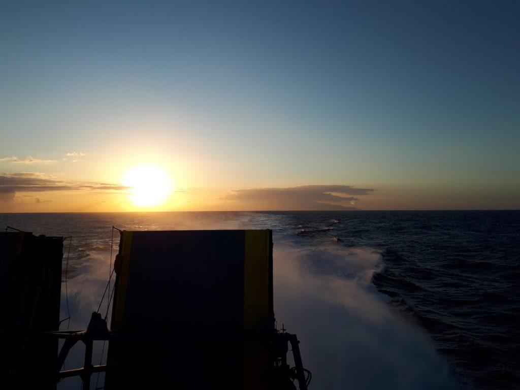 Sonnenuntergang Fähre El Hierro Teneriffa Kanaren