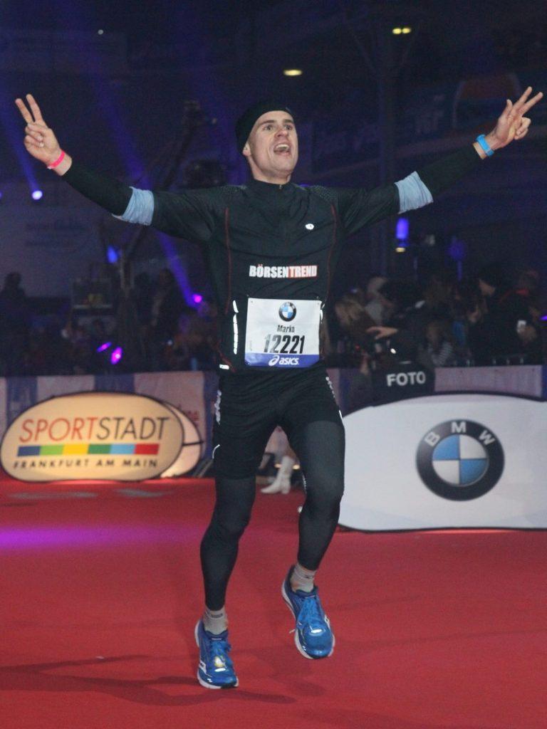 Zieleinlauf Frankfurt Marathon